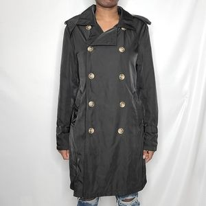 Coofandy Classic Black Trench Coat